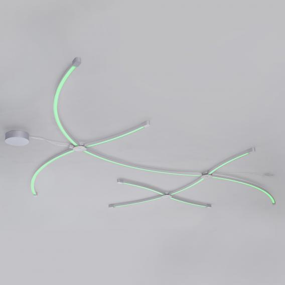 Paul Neuhaus Q-Spider LED Schiene mit Dimmer, gebogen