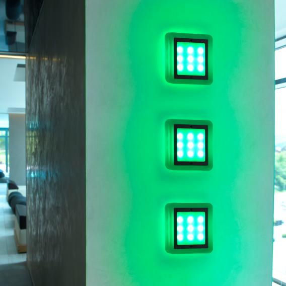 Paul Neuhaus Q-Vidal LED RGBW Einbauleuchte 3er Set mit Dimmer