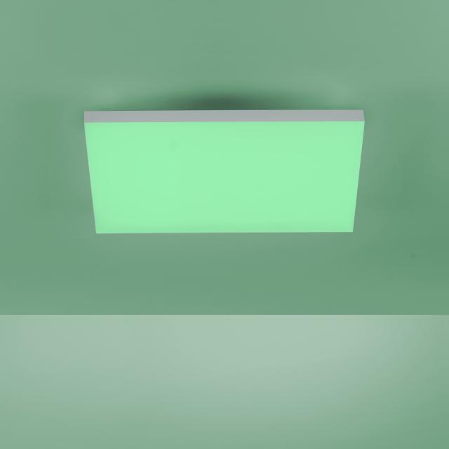 Paul Neuhaus Q-Frameless RGBW LED Deckenleuchte mit Dimmer und CCT, quadratisch