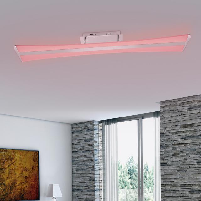 Paul Neuhaus Q-Riller RGBW LED Deckenleuchte mit Dimmer