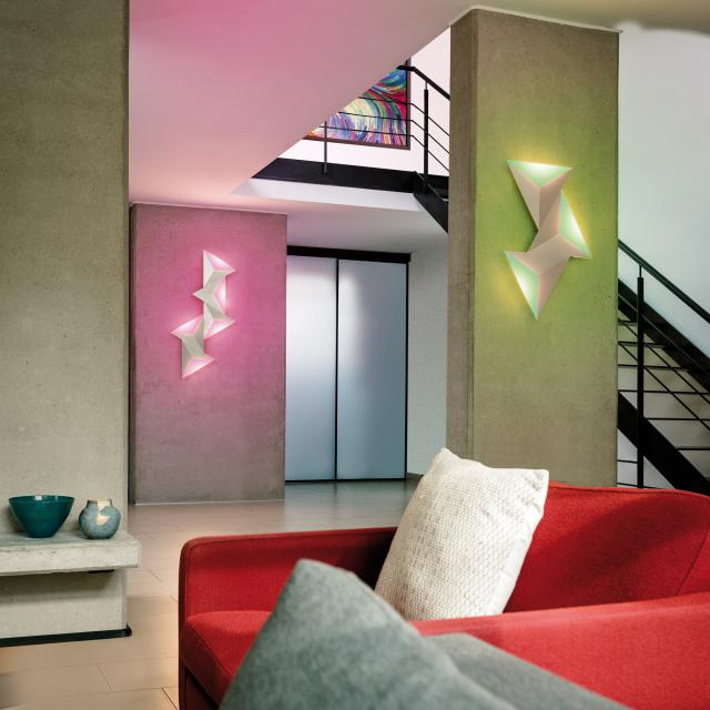 Paul Neuhaus Q-Tetra Satellite RGBW LED Wandleuchte mit Dimmer