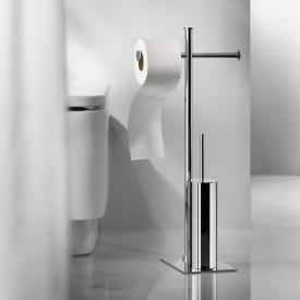 Pomdor Kubic Toilettenbürstengarnitur mit Toilettenpapierrollenhalter