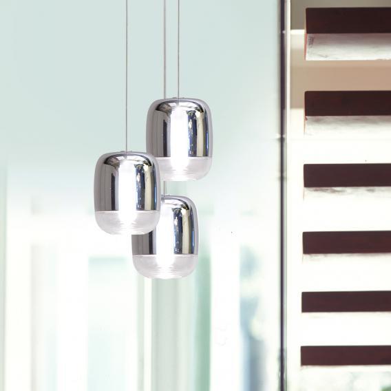 prandina Gong Mini 3R LED Pendelleuchte 3-flammig