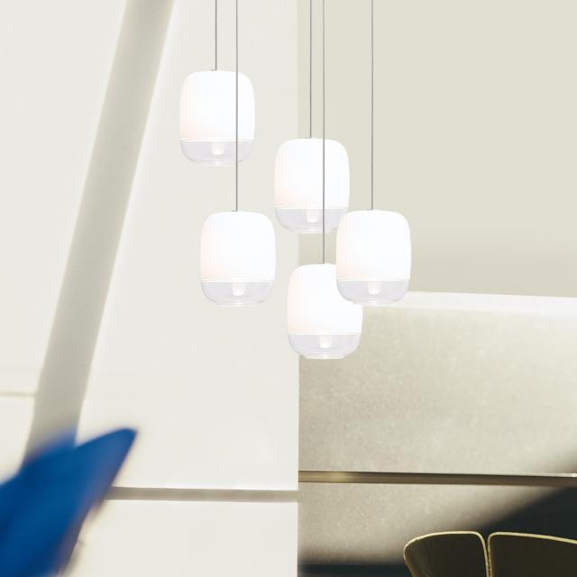 prandina Gong Mini 5R LED Pendelleuchte 5-flammig