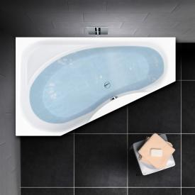 PREMIUM 100 Raumspar-Badewanne mit Ablagefläche Länge: 165 cm, Breite: 95 cm