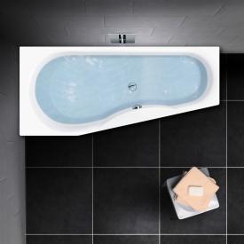 PREMIUM 100 Raumspar-Badewanne Länge: 160 cm, Breite: 75 cm, Innentiefe: 46 cm