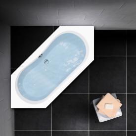 PREMIUM 100 Sechseck-Badewanne Länge: 190 cm, Breite: 80 cm