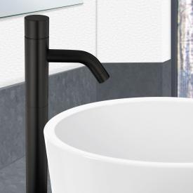 PREMIUM 500 Elektronische Waschtischarmatur mit Temperaturregler schwarz, netzbetrieben