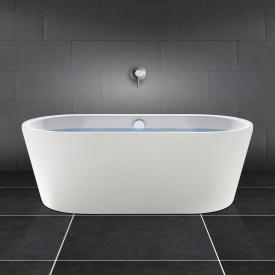 PREMIUM freistehende Oval-Badewanne Länge: 180 cm, Breite: 80 cm weiß