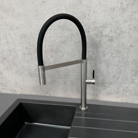 PREMIUM Steel Küchenarmatur, mit flexiblem Auslauf mit Schlauch, Höhe 50 cm, 5 Jahre Garantie
