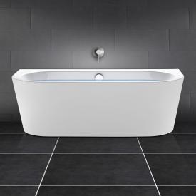 PREMIUM Vorwand-Badewanne Länge: 180 cm, Breite: 80 cm mit Füllfunktion über Überlauf