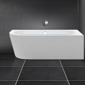 PREMIUM Vorwand-Eck-Badewanne mit integrierten Wassereinlauf