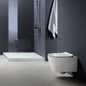 PREMIUM Wand-Tiefspül-WC, spülrandlos, oval