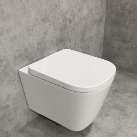 PREMIUM Wand-Tiefspül-WC-SET, spülrandlos, eckig, mit WC-Sitz
