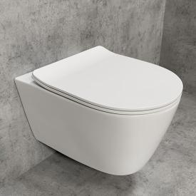 PREMIUM Wand-Tiefspül-WC-SET, spülrandlos, oval, mit slim WC-Sitz