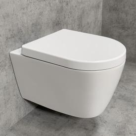 PREMIUM Wand-Tiefspül-WC-SET, spülrandlos, oval, mit WC-Sitz