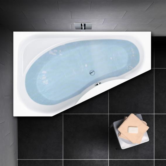 PREMIUM 100 Raumspar-Badewanne mit Ablagefläche Länge: 175 cm, Breite: 110 cm, Innentiefe 46 cm