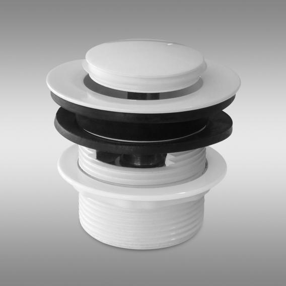 PREMIUM 200 Click-Clack Ablaufventil für Badewanne weiß