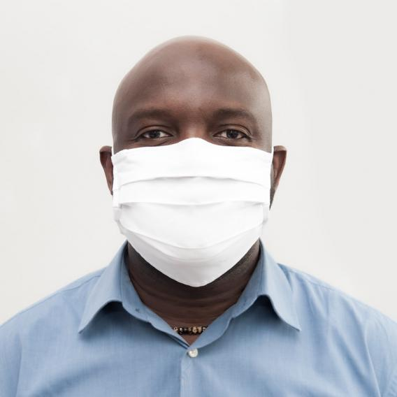 PREMIUM Textile Mund- und Nasenschutzmaske mit Nasenbügel, 2-lagig, wiederverwendbar
