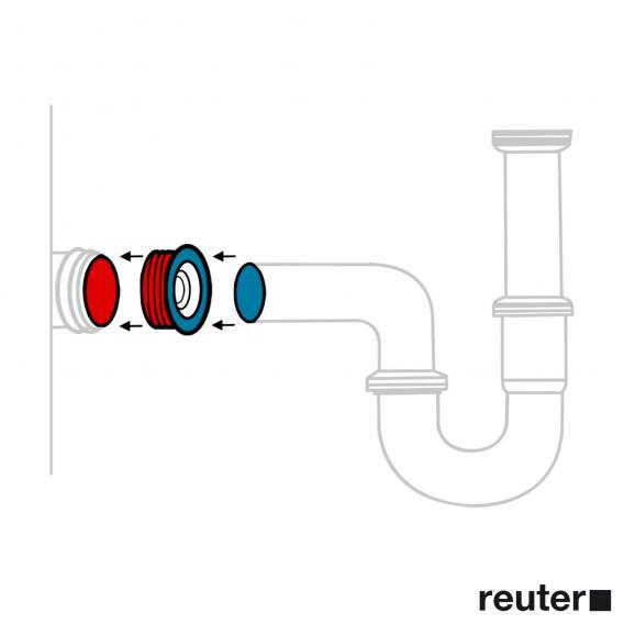 Villeroy & Boch Venticello Doppel-Möbelwaschtisch weiß mit CeramicPlus, mit 2 Hahnlöchern, mit Überlauf
