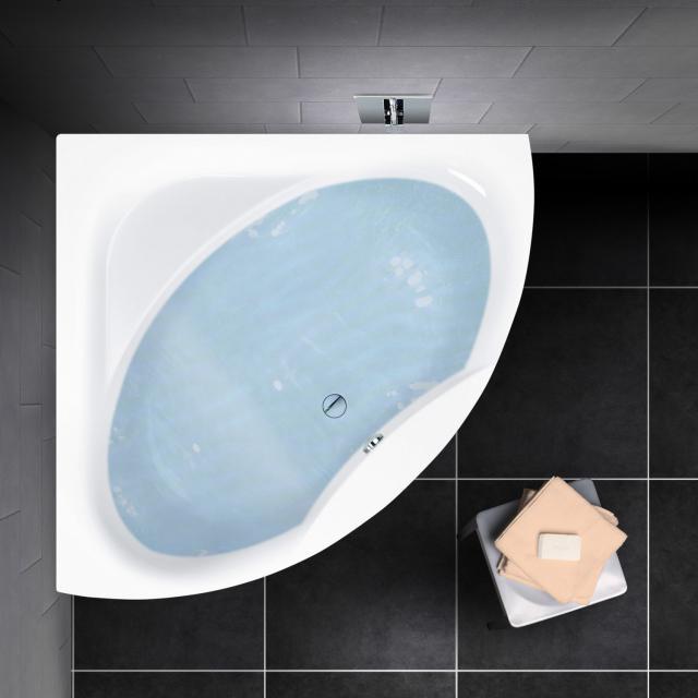 PREMIUM 100 Eck-Badewanne, Einbau Länge: 150 cm, Breite: 150 cm Innentiefe: 46 cm