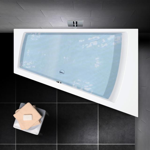 PREMIUM 100 Eck-Badewanne Länge: 170 cm, Breite: 110 cm, Innentiefe 46 cm