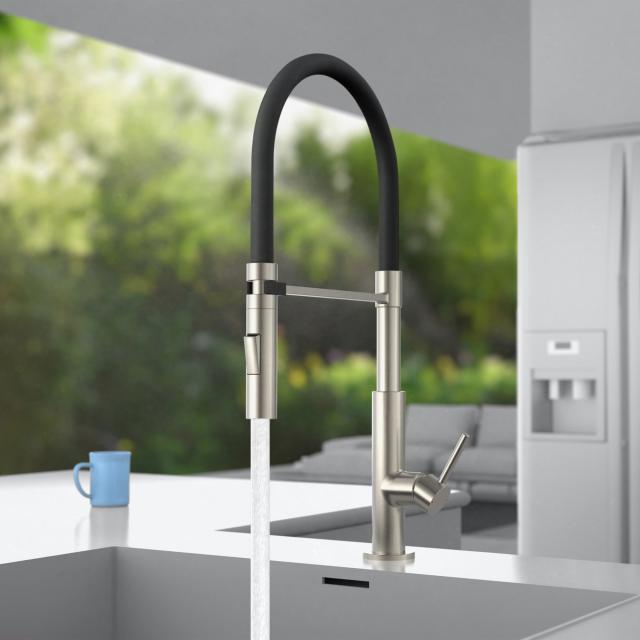 PREMIUM 100 Einhebel-Küchenarmatur mit flexiblem Auslauf