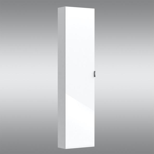 PREMIUM 100 Hochschrank mit 1 Tür Front weiß hochglanz / Korpus weiß hochglanz, Griff chrom