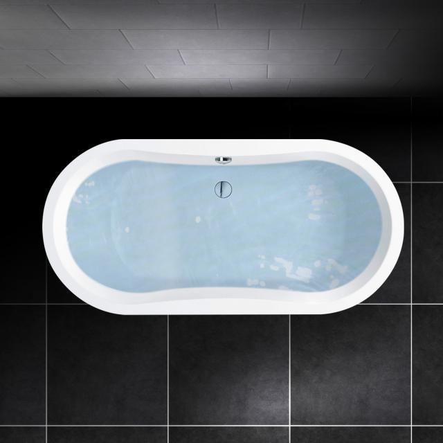 PREMIUM 100 Oval-Badewanne Länge: 180 cm, Breite: 80 cm, Innentiefe: 45 cm