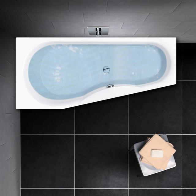 PREMIUM 100 Raumspar-Badewanne, Einbau Länge: 160 cm, Breite: 75 cm, Innentiefe: 46 cm