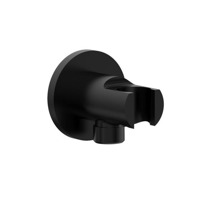 PREMIUM 100 Schlauchanschluss mit Brausehalter schwarz matt