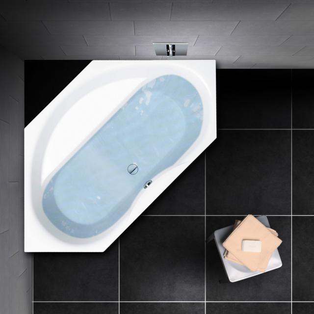 PREMIUM 100 Sechseck-Badewanne, Einbau Länge: 204 cm, Breite: 108 cm