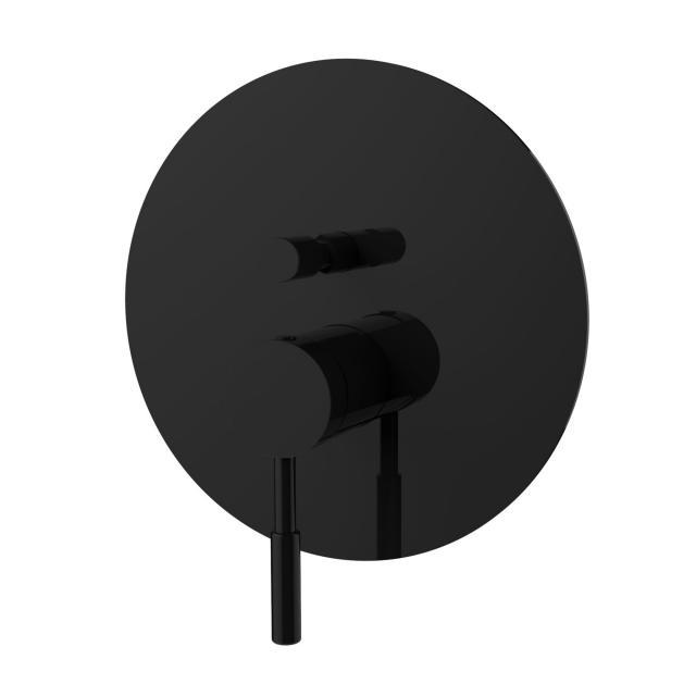 PREMIUM 100 Wannen/Brause-Einhandbatterie, Unterputz schwarz matt