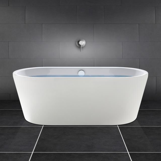 PREMIUM 200 Freistehende Oval-Badewanne Länge: 180 cm, Breite: 80 cm weiß matt