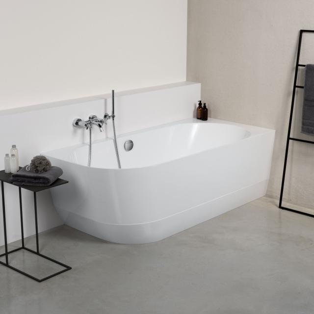 PREMIUM 300 Eck-Badewanne mit Verkleidung L: 180 B: 80 H: 59 cm, Raumecke rechts