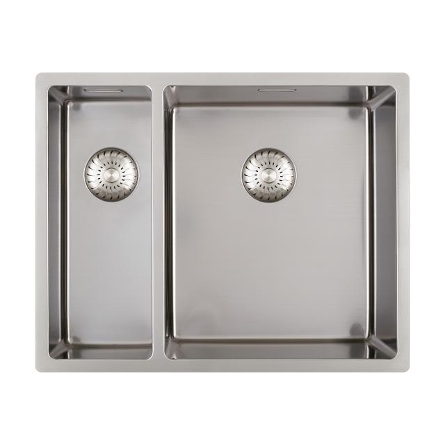 PREMIUM 300 Küchenspüle mit Nebenbecken und nahtlosem Design-Ablauf