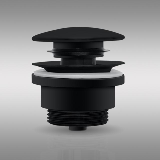 PREMIUM Universal Ablaufventil mit Staufunktion schwarz matt
