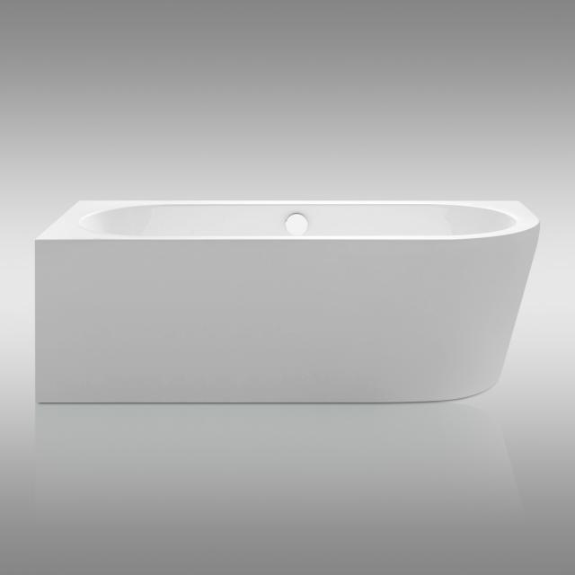 Repabad Livorno Eck-Badewanne mit Verkleidung weiß, mit Füllfunktion über Überlauf