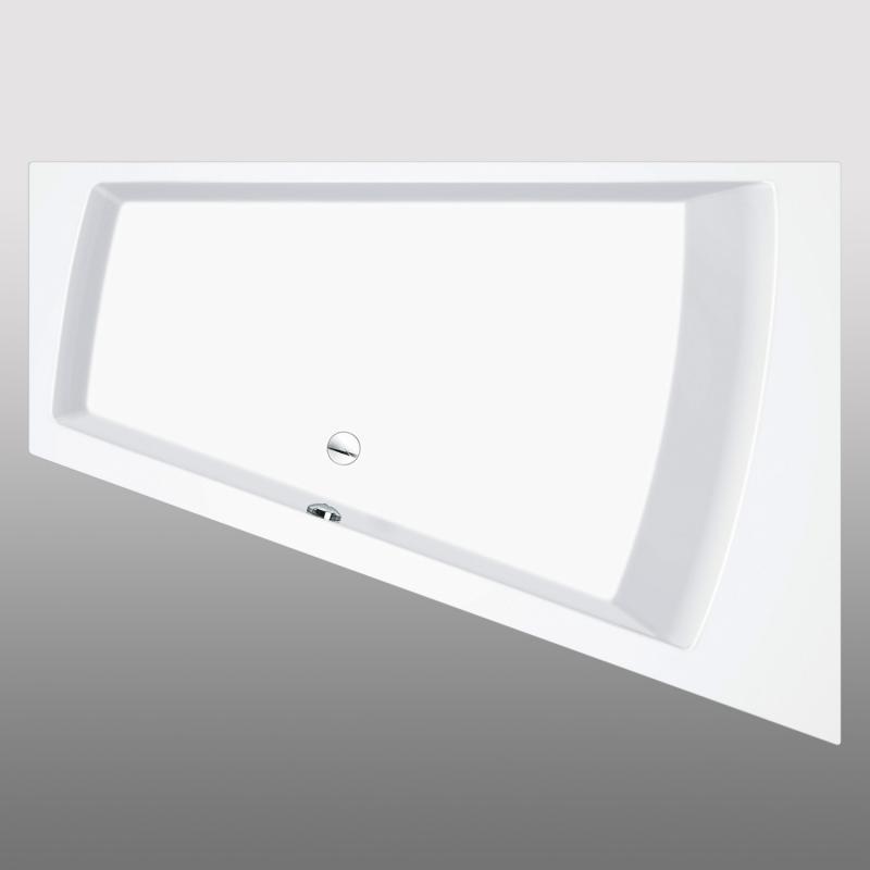 PREMIUM Trapez-Badewanne Länge: 180 cm, Breite: 129 cm - PR1018 | REUTER