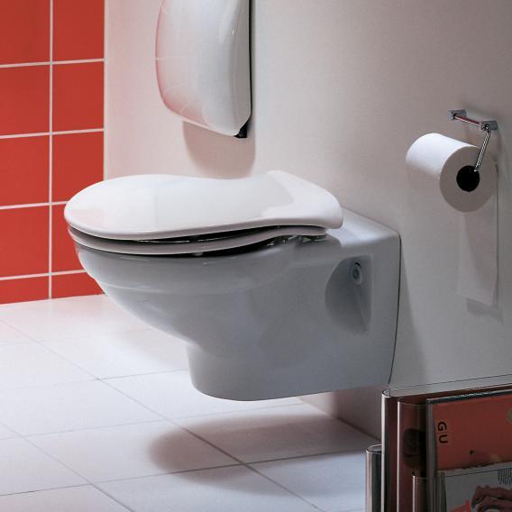 Pressalit Raja WC-Sitz L: 41,8-46 B: 40,2 cm Mit Absenkautomatik soft-close und lift-off