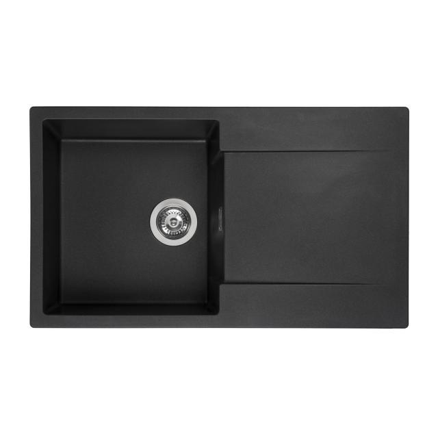 Reginox Amsterdam 10 Küchenspüle mit Abtropffläche schwarz metallic