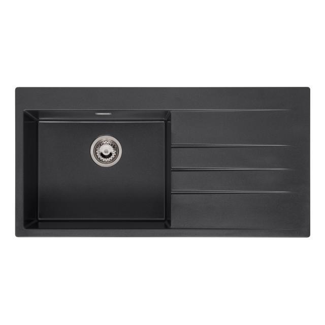 Reginox Breda 10 Küchenspüle mit Abtropffläche schwarz metallic