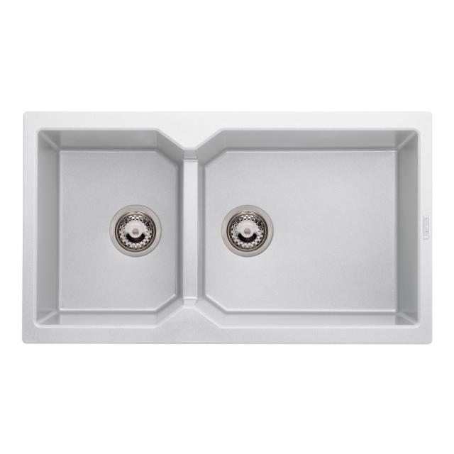 Reginox Breda 20 Küchenspüle mit Restebecken weiß