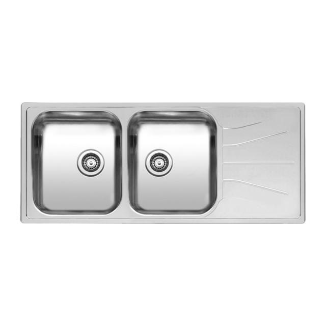 Reginox Diplomat 30 Lux Küchenspüle mit Doppelbecken und Abtropffläche