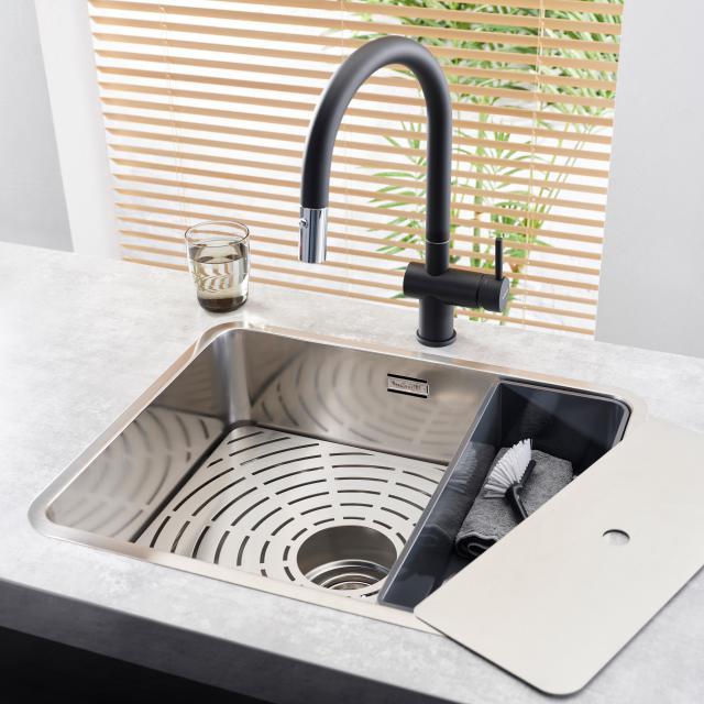 Reginox Flint Küchenarmatur mit ausziehbarem Auslauf schwarz/chrom