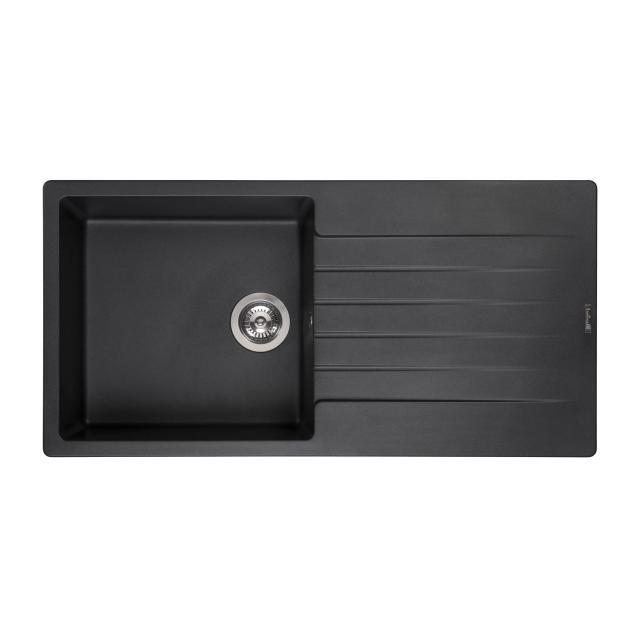 Reginox Harlem 10 Küchenspüle mit Abtropffläche schwarz metallic