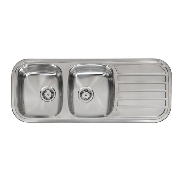 Reginox Regent 30 Lux KGOKG Küchenspüle mit Doppelbecken und Abtropffläche