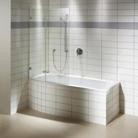 Repabad Arosa Shower Badewanne mit Duschzone weiß