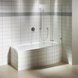 Repabad Arosa Shower Rechteck-Badewanne mit Duschzone weiß