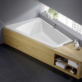 Repabad Genf Trapez-Badewanne weiß